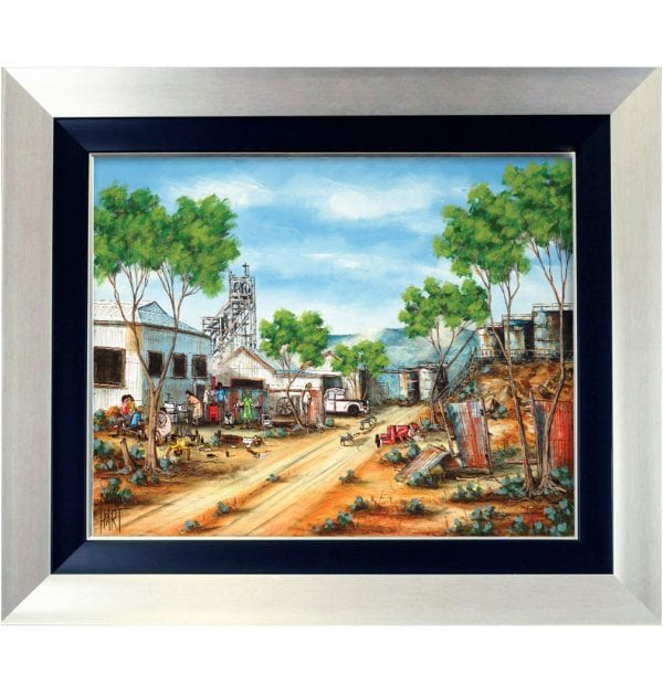 1BS Miners Christmas Party Giclee on Canvas 60 x 75cm 1BS_w