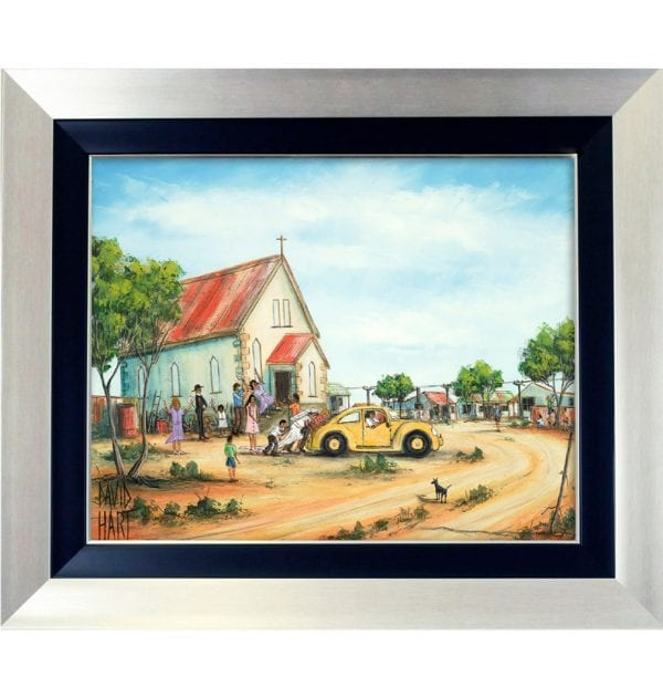 1BS Wedding at Wilcannia Giclee on Canvas 60 x 75cm 1BS_w