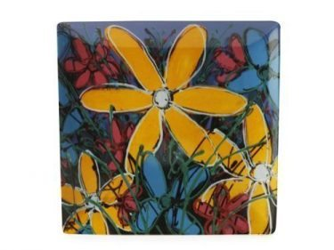 127223 Yellow Tangled Gerberas 30 x 30cm 83030w