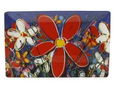 127225 Red Tangled Daisies 40 x26cm 82140w