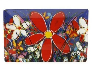 127229 Red Tangled Daisies 30 x20cm 82131w